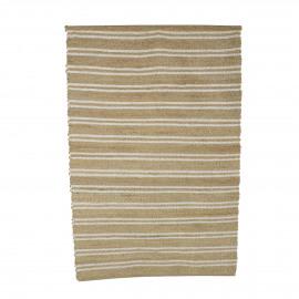 EULARIA - tapijt - jute / katoen - L 180 x W 120 cm - naturel