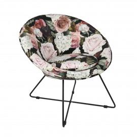 GARBO - fauteuil - velvet / fer - L 75 x W 67 x H 73 cm - multicolor