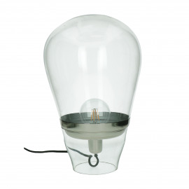 BULLIA - lampadaire - verre / métal - DIA 33 x H 47 cm - transparant