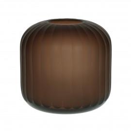 LINJER - vaas - glas - DIA 17 x H 17 cm - amber