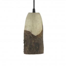 CABINE - lampe suspendue - paulownia - DIA 10 x H 19 cm - Naturel