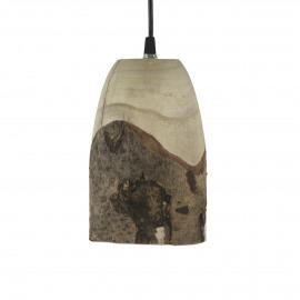 CABINE - lampe suspendue - paulownia - DIA 13 x H 20 cm - Naturel