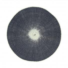 ECLAT - placemat - papier - DIA 38 cm - donkerblauw