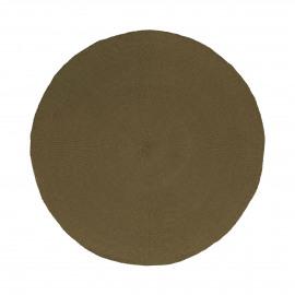 KOLORI - placemat - papier - DIA 38 cm - tabak