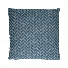 DENIS - coussin - coton / polyester - L 45 x W 45 cm - bleu claire