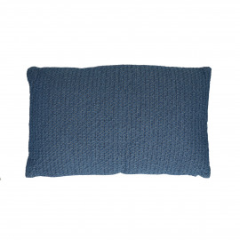 DENIS - cushion - cotton / polyester - L 50 x W 30 cm - blue