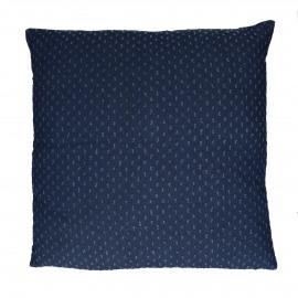 DENIS - coussin - coton / polyester - L 60 x W 60 cm - bleu foncé