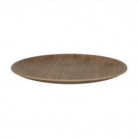 BUTLER - tray - multiplex - DIA 41 x H 3 cm - brown