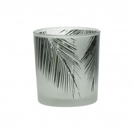 TROPICAL - hurricane - glass - DIA 7 x H 8 cm - green