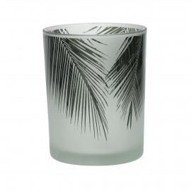 TROPICAL - hurricane - glass - DIA 10 x H 12,5 cm - green
