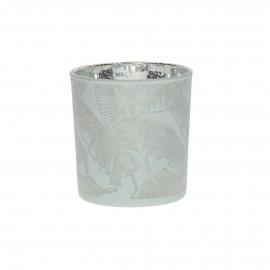 BANANA - hurricane - glass - DIA 7 x H 8 cm - white