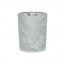 BANANA - hurricane - glass - DIA 10 x H 12,5 cm - white