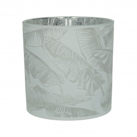 BANANA - hurricane - glass - DIA 15 x H 15 cm - white