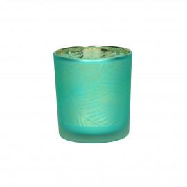 BONOBO - hurricane - glass - DIA 7 x H 8 cm - teal