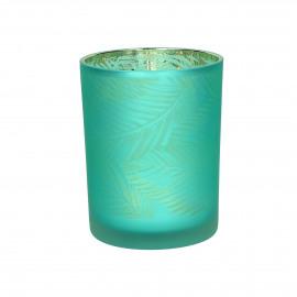 BONOBO - hurricane - glass - DIA 10 x H 12,5 cm - teal