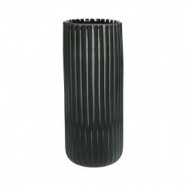 ALBATROS - vase - verre - DIA 15 x H 35 cm - noir