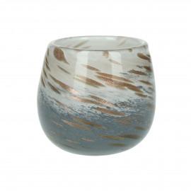 STORM - hurricane - glass - DIA 9 x H 7 cm - multicolor