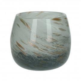 STORM - windlicht - glas - DIA 14,5 x H 11,5 cm - Multicolor