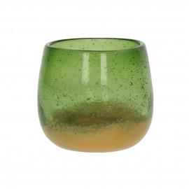 HIRONDELLE - t-light - glass - DIA 9 x H 8 cm - multicolor