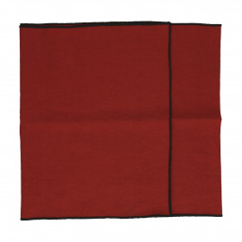 CHAMBRAY - runners - linen / cotton - L 150 x W 40 cm - rust