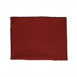 CHAMBRAY - table cloth - linen / cotton - L 170 x W 170 cm - Rust