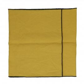METISSE - tafelloper - linnen / katoen - L 150 x W 40 cm - safraan
