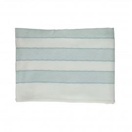 TIZIA - table cloth - cotton - L 170 x W 170 cm - Blue