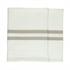 TIZIA - set/2 runners - cotton - L 150 x W 40 cm - beige