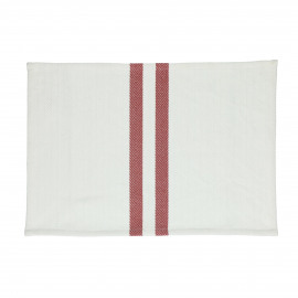 TIZIA - set/4 placemats - cotton - L 48 x W 33 cm - Red