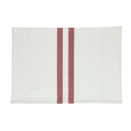 TIZIA - set/4 placemats - katoen - L 48 x W 33 cm - Rood