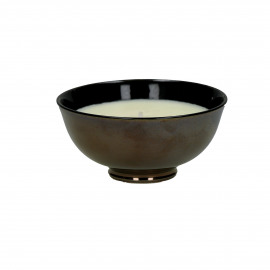 BLACK YASMIN - Scented candle - porcelain / wax - DIA 12 x H 6 cm