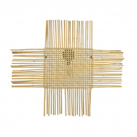 CROIX - wall lamp - bamboo - L 85 x H 75 cm - Natural