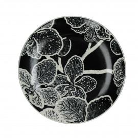 PAPAYE - Dessert bord - porselein - Ø22 cm - Zwart