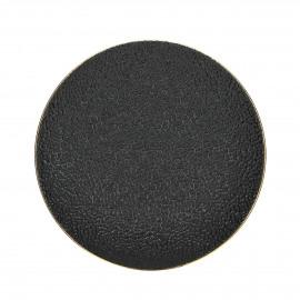 LEZARD - Dessert bord - porselein - DIA 22 cm - Zwart