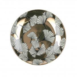 PAPYRUS - dessert bord - porselein - Ø22 cm - Koper