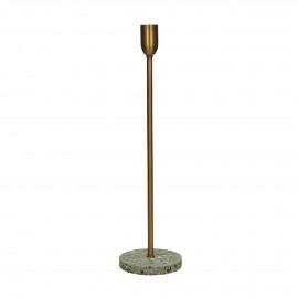 TERRAZZO - candle holder - terrazzo / metal - DIA 10 x H 36 cm - grey