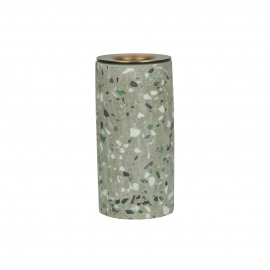 TERRAZZO - chandelier - terrazzo / métal - DIA 5 x H 10 cm - gris