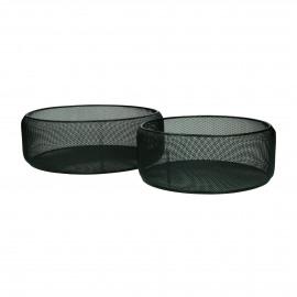 KARO - set/2 baskets - iron - DIA 25/30 x H 11 cm - black