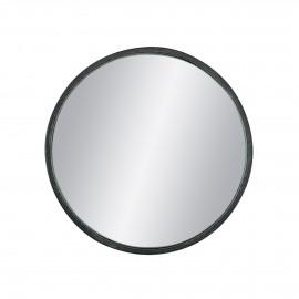 KARO - mirror - iron / mirror glass - DIA 45 x H 5 cm - black