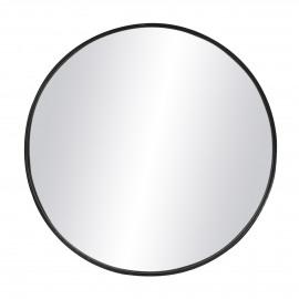 KARO - miroir - fer / verre miroir - DIA 95 x H 5 cm - Noir