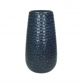 ISADORA - vase - faïence - DIA 15 x H 30 cm - bleu