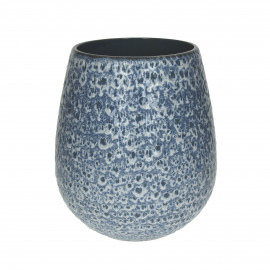 ISADORA - vase - faïence - DIA 18 x H 21 cm - Bleu