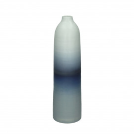APOLONIA - vase - faïence - DIA 10,5 x H 40 cm - bleu