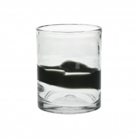 DOPI - waterglas - glas - DIA 8 x H 10 cm - Donker groen