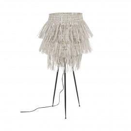 ZOULOU - lampe de table - rotin / fer - DIA 47 x H 82 cm