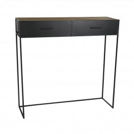 ESSENTIAL - console - iron / fir - L 100 x W 30 x H 97 cm