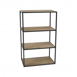 ESSENTIAL - rack - iron / fir - L 50 x W 30 x H 81 cm