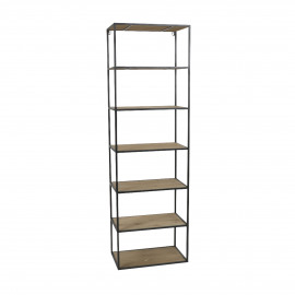 ESSENTIAL - rack - iron / fir - L 50 x W 30 x H 161 cm