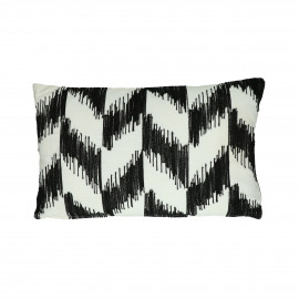 TOUAREG - coussin - coton - L 50 x W 30 cm - noir/blanc