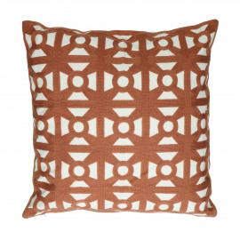 SAHARA - coussin - coton - L 45 x W 45 cm - rouille